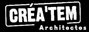 Créa'tem Architectes - Logo (blanc)